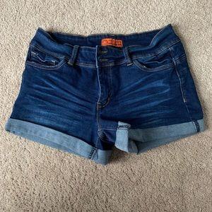 Fashion Nova Wax Jean Shorts